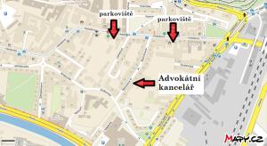 Mapy sídla advokátní kanceláře Brno